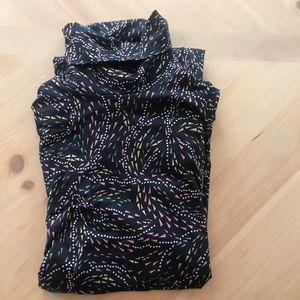 DVF Silk Jersey Turtleneck Dress